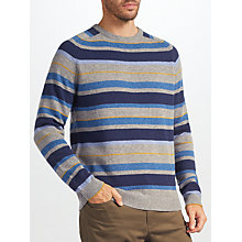 Buy John Lewis Stripe Knit Jumper, Grey Online at johnlewis.com