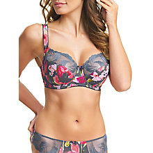 Buy Fantasie Lianne Side Support Underwired Balcony Bra, Slate/Multi Online at johnlewis.com
