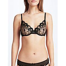 Buy Somerset by Alice Temperley Sienna Dramatic Daisy Bra, Black/Red Online at johnlewis.com