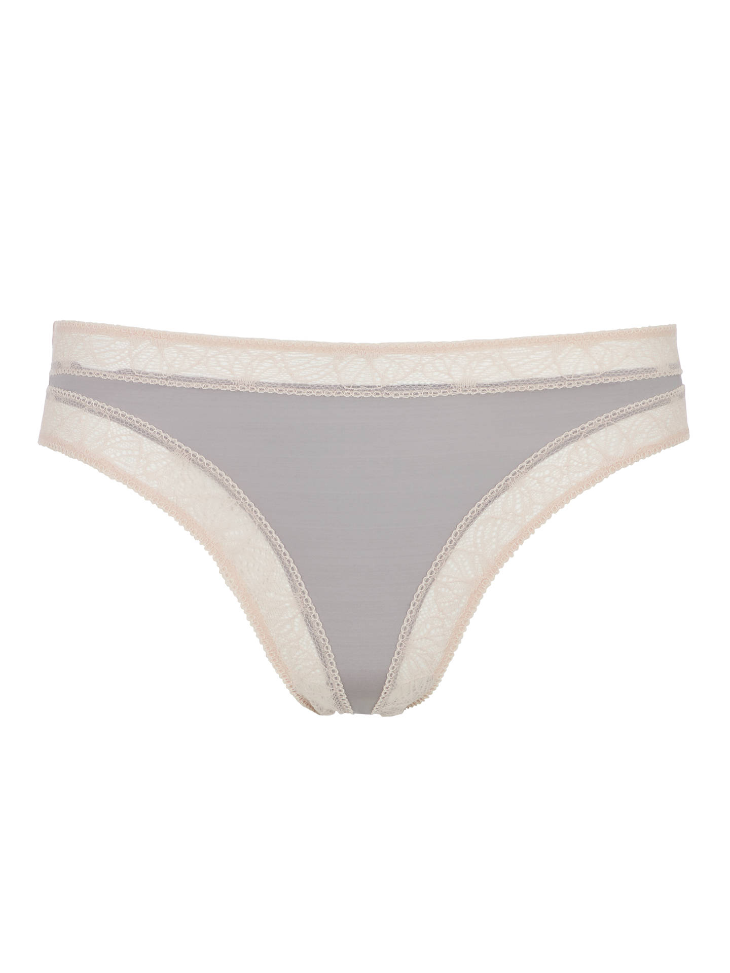 BuyAND/OR Phoebe Lace Trim Briefs, Grey, 12 Online at johnlewis.com