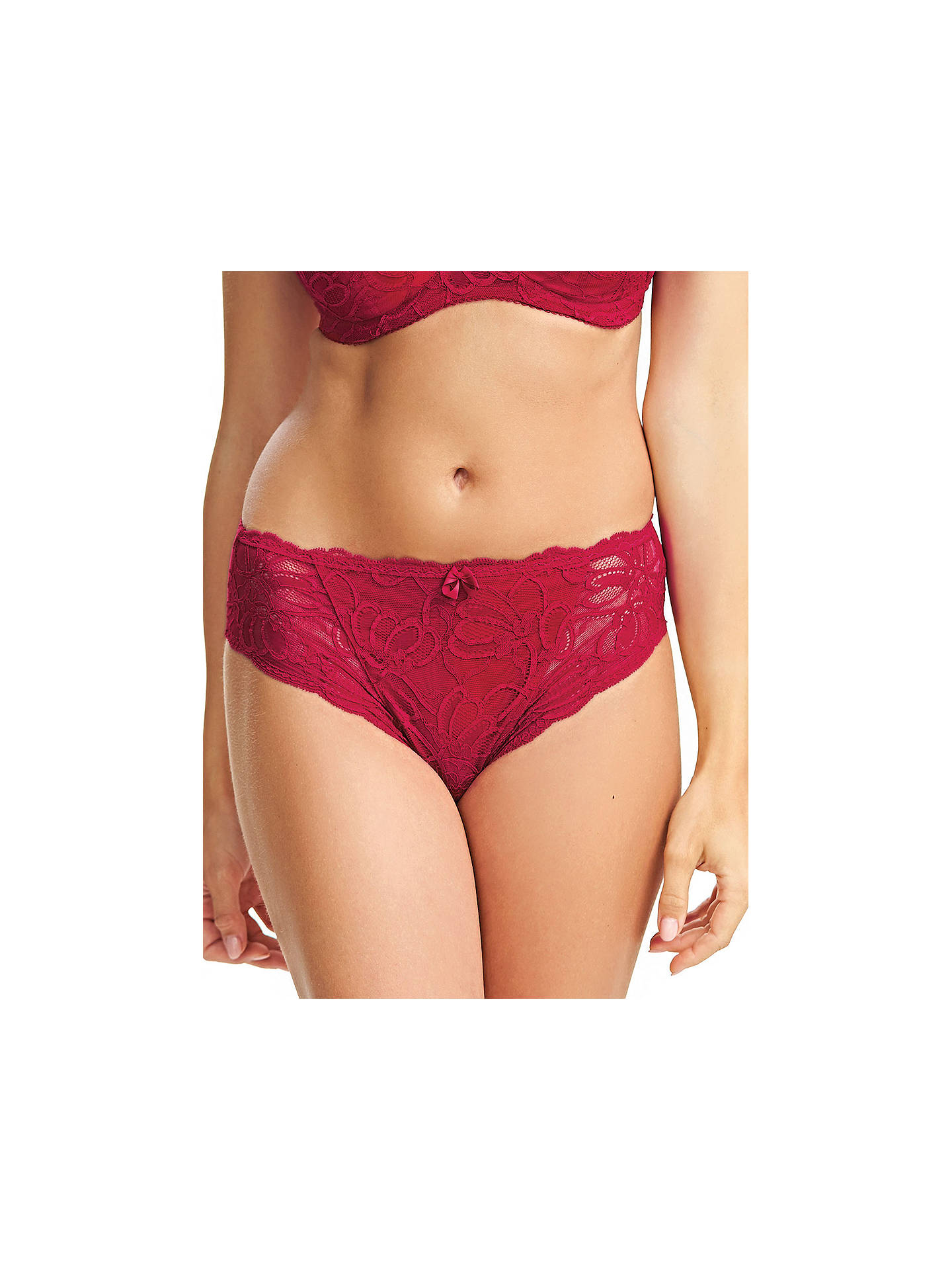 ca4c2d266eb981 Buy Fantasie Jacqueline Lace Briefs, Red, S Online at johnlewis.com ...