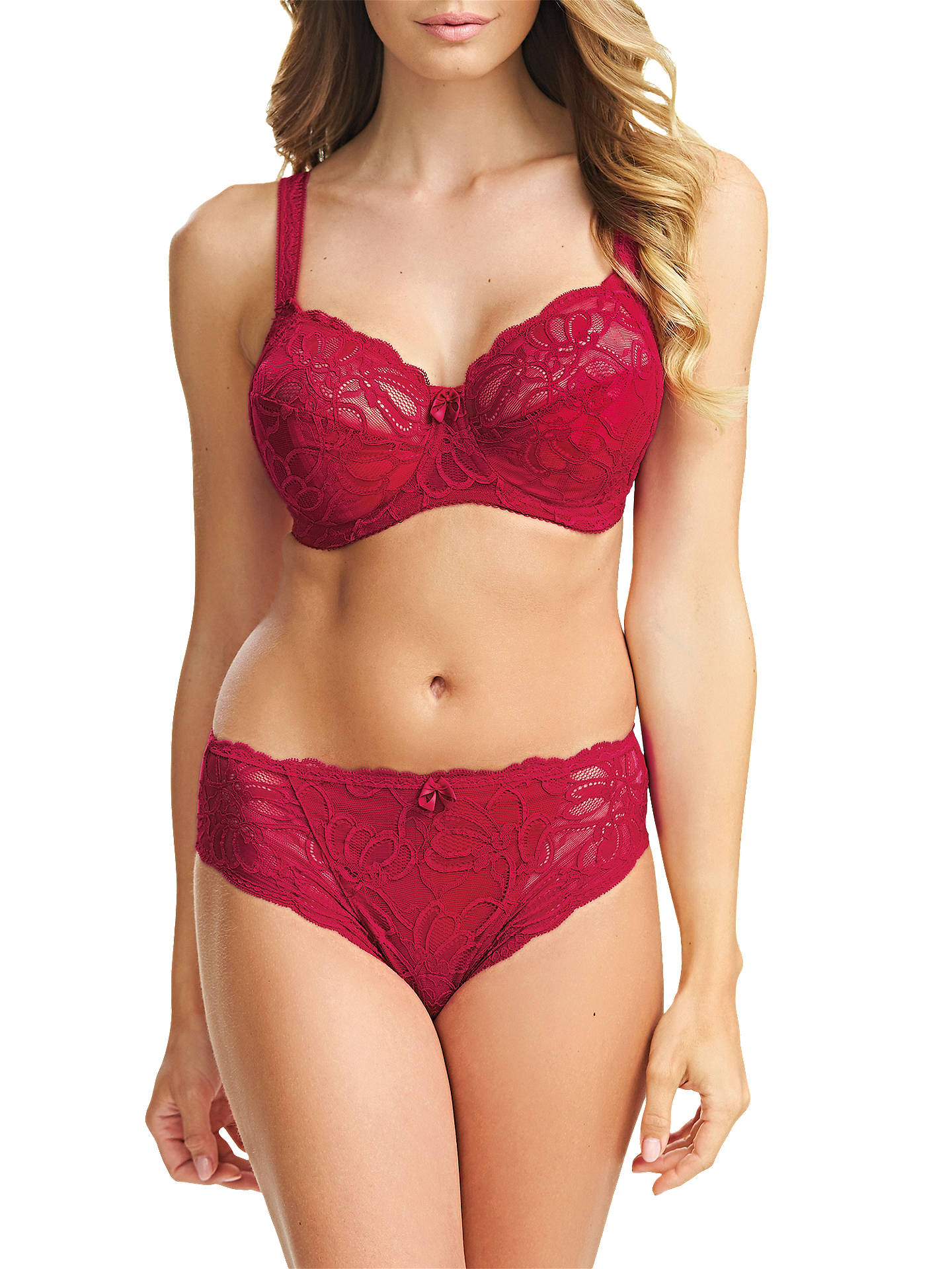 98a65696aeca ... Buy Fantasie Jacqueline Lace Full Cup Bra, Red, 30DD Online at  johnlewis.com ...