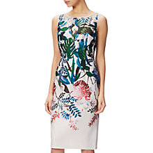 Buy Adrianna Papell Laser Cut Scuba Dress, Blush/Multi Online at johnlewis.com