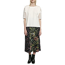 Buy French Connection Bluhm Botero Maxi Skirt, Black/Multi Online at johnlewis.com