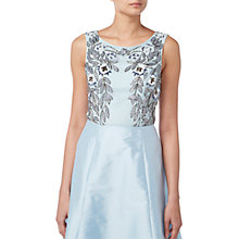 Buy Raishma Floral Embroidered Sleeveless Crop Top, Blue Online at johnlewis.com
