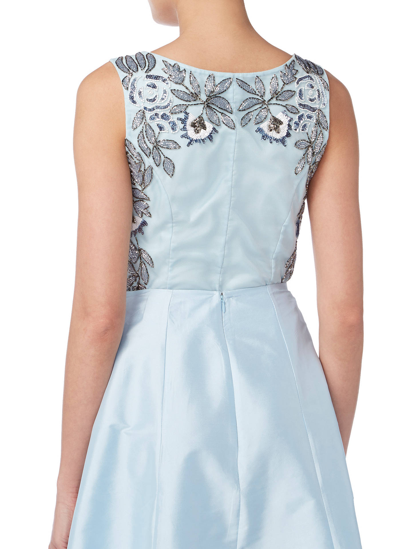 BuyRaishma Floral Embroidered Sleeveless Crop Top, Blue, 8 Online at johnlewis.com