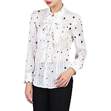 Buy Jolie Moi Star Print Shirt, White Online at johnlewis.com