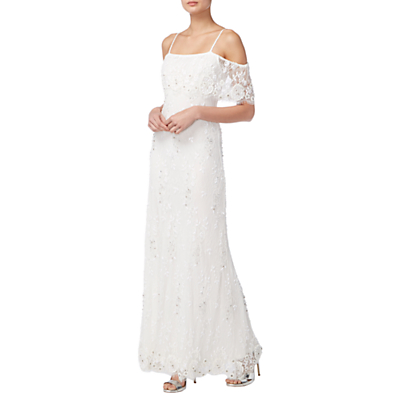Raishma Lace Beaded Bridal Gown, Ivory
