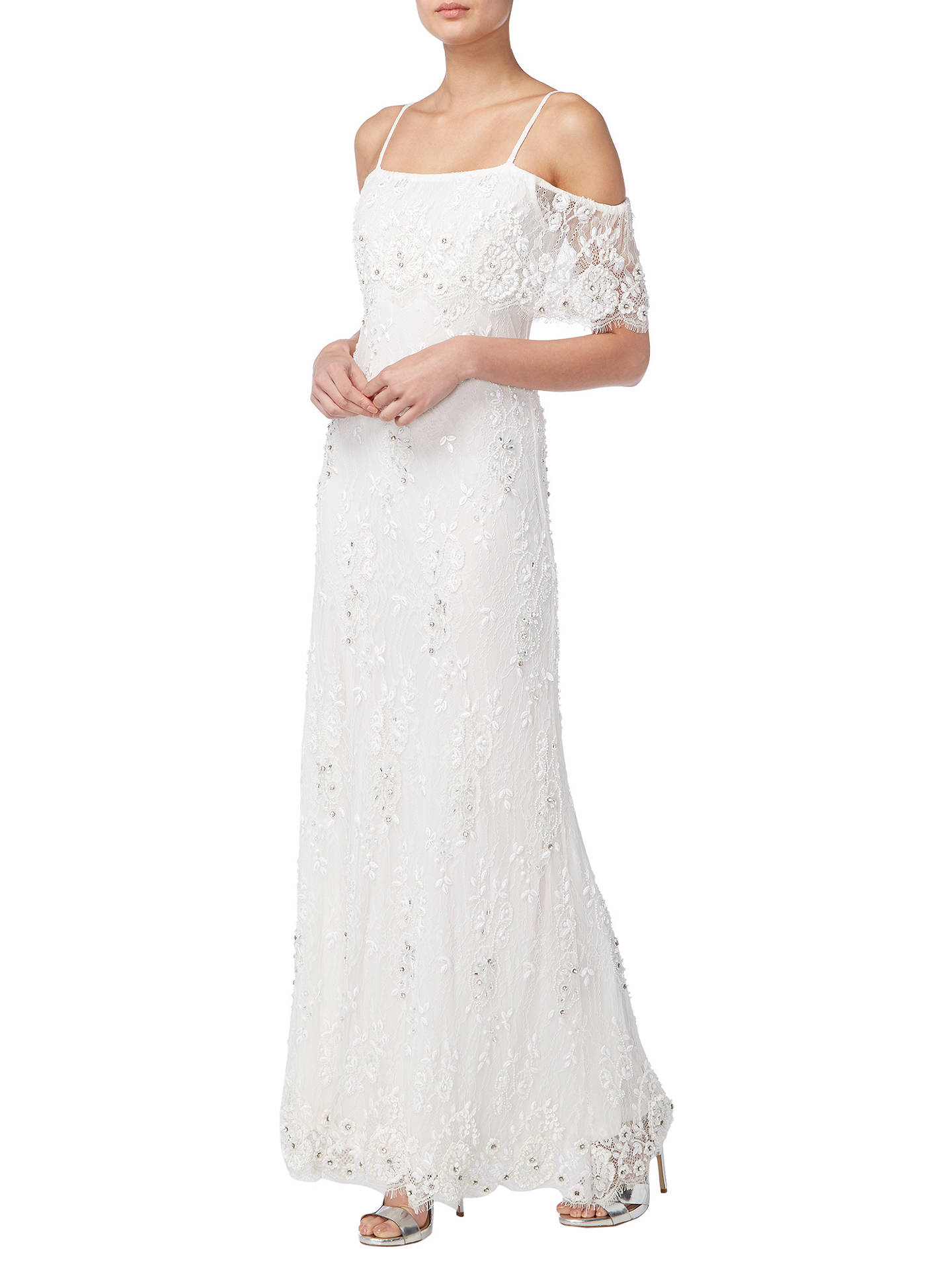 BuyRaishma Lace Beaded Bridal Gown, Ivory, 8 Online at johnlewis.com