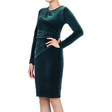 Buy Jolie Moi Asymmetric Folded Bodycon Dress, Teal Online at johnlewis.com