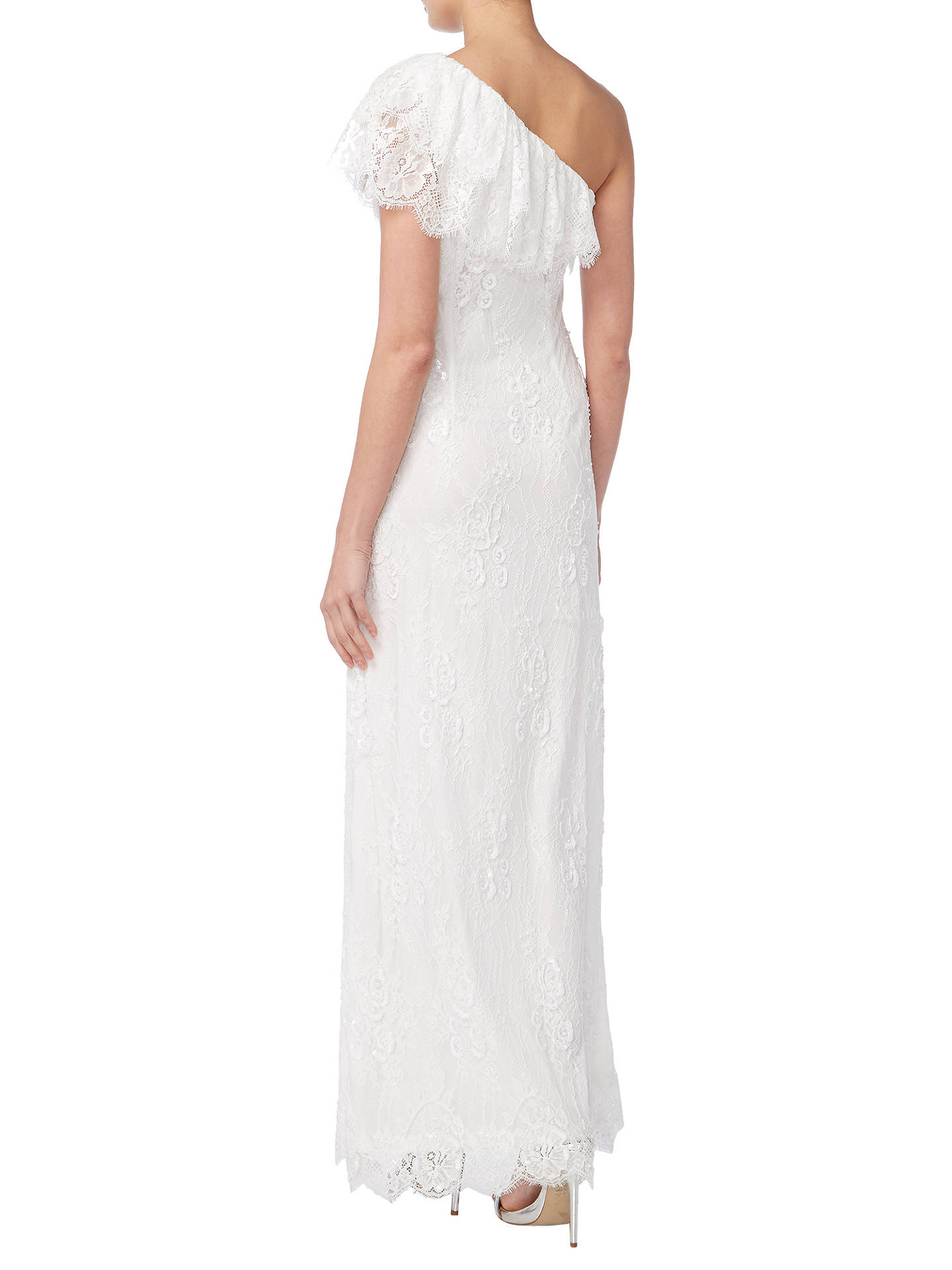 Buy Raishma One Shoulder Beaded Bridal Gown, Ivory, 8 Online at johnlewis.com