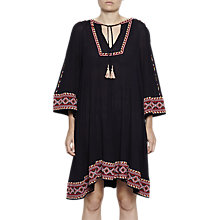 Buy French Connection Adanna Crinkle Embroidered Smock Dress, Utility Blue Multi Online at johnlewis.com