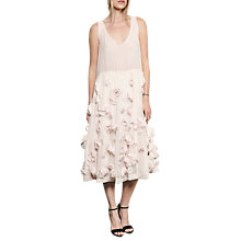 Buy French Connection Agnes Floral Applique Dress, Powder Pink Online at johnlewis.com