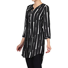 Buy Jolie Moi Geo Print Tunic Top, Black Pattern Online at johnlewis.com