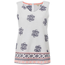 Buy White Stuff Kita Embroidered Jersey Vest, White Online at johnlewis.com