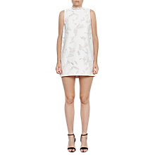 Buy French Connection Deka Embroidered Mini Dress, Summer White Online at johnlewis.com