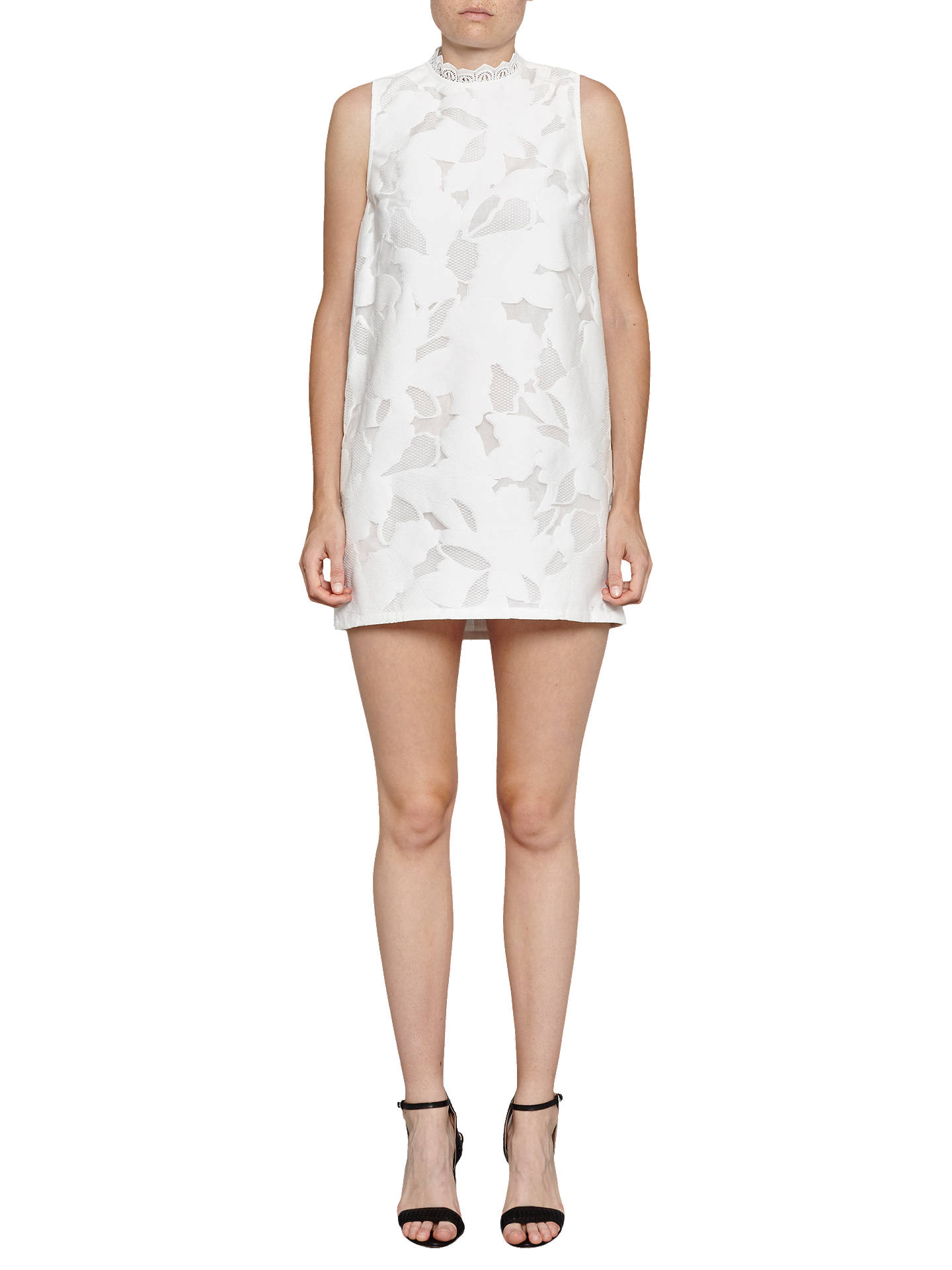 e182d3ec8460 Buy French Connection Deka Embroidered Mini Dress, Summer White, 10 Online  at johnlewis.