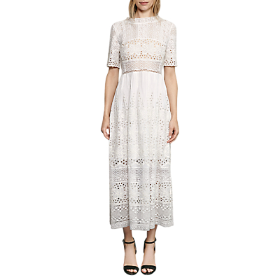Titanic Style Dresses & Costumes for Sale French Connection Hesse Broderie Maxi Dress Summer White £180.00 AT vintagedancer.com