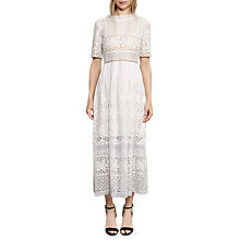 Buy French Connection Hesse Broderie Maxi Dress, Summer White Online at johnlewis.com