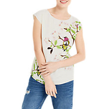 Buy Oasis Topaz Bird Lace Top, Multi Online at johnlewis.com