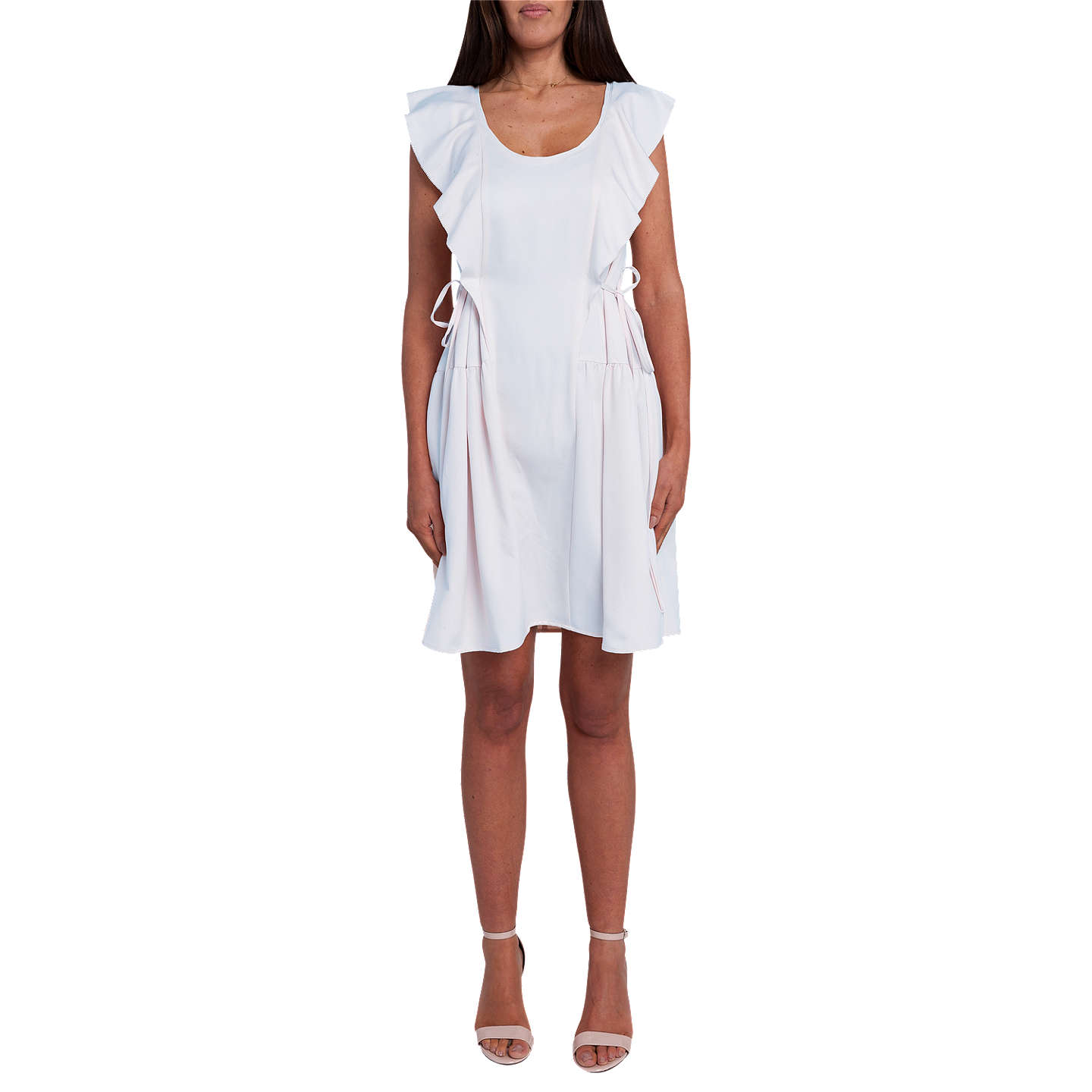 BuyFrench Connection Nia Drape Cap Sleeved Mini Dress, Salt Water, 8 Online  at johnlewis ...