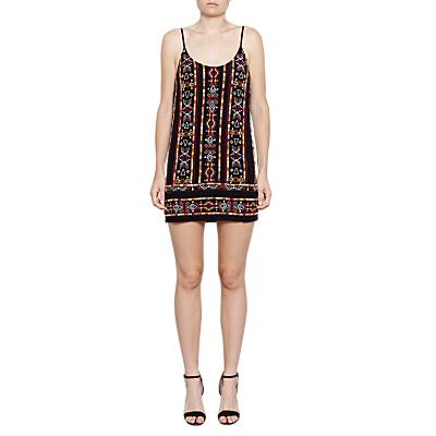 French Connection Bakari Embellished Dress, Utility Blue Multi
