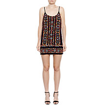 Buy French Connection Bakari Embellished Dress, Utility Blue Multi Online at johnlewis.com