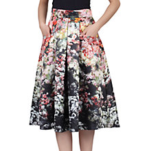 Buy Jolie Moi Floral Print Skirt, Black Online at johnlewis.com