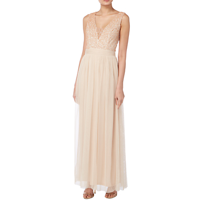 Raishma Pearl Beaded Bodice Gown, Blush