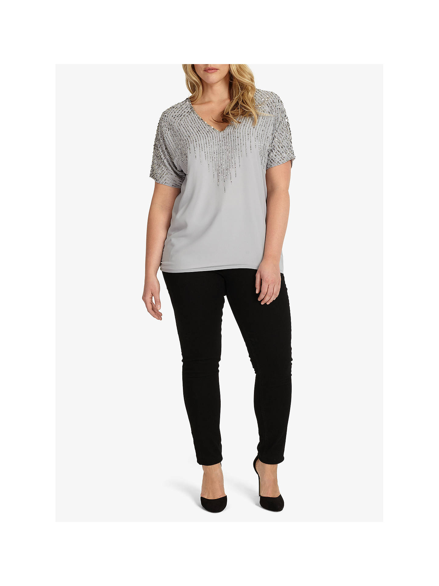 BuyStudio 8 Dexie Beaded Top, Grey, 16 Online at johnlewis.com