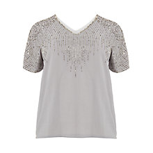 Buy Studio 8 Dexie Beaded Top, Grey Online at johnlewis.com