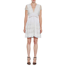 Buy French Connection Hesse Broderie Dress, Summer White Online at johnlewis.com