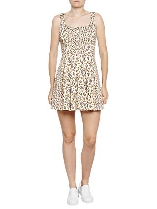 French Connection Niko Stretch Dress, Summer White/Multi