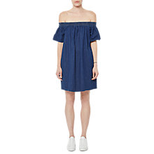 Buy French Connection Stayton Off Shoulder Denim Dress, Washed Indigo Online at johnlewis.com