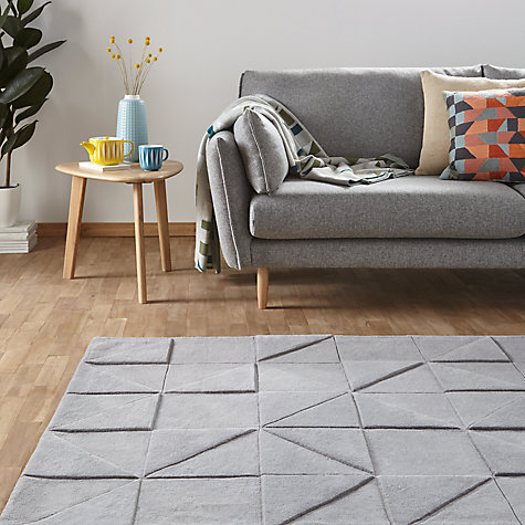 John Lewis Scandi Jonas Carved Rug Grey Online At Johnlewis Com
