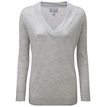 Buy Pure Collection Cashmere Featherweight Boyfriend Jumper, Grey Online at johnlewis.com