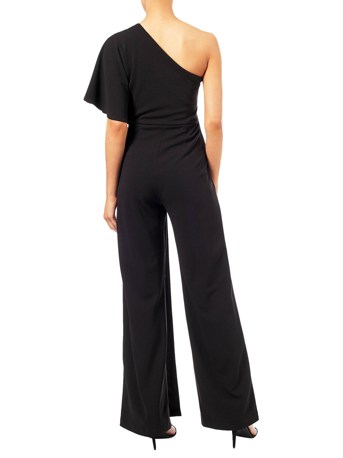 BuyAdrianna Papell One Shoulder Jumpsuit, Black, 6 Online at johnlewis.com