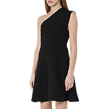 Buy Reiss Keria One-Shoulder Dress, Black Online at johnlewis.com