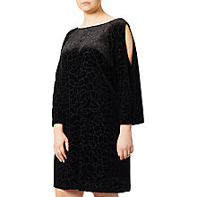 Buy Adrianna Papell Plus Size Cold Shoulder Floral, Black Online at johnlewis.com
