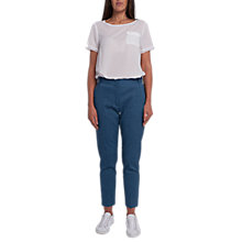 Buy French Connection Indi Bour Linen Tapered Trousers, Indigo Online at johnlewis.com