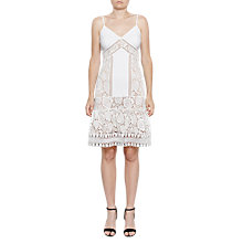 Buy French Connection Shaka Layer Jersey Strappy Dress, Summer White Online at johnlewis.com