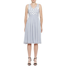 Buy French Connection Dalia Floral Embroidered Dress, Saltwater/Summer White Online at johnlewis.com