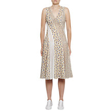 Buy French Connection Niko Broderie Printed Dress, Summer White Multi Online at johnlewis.com