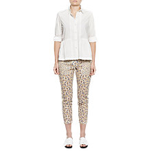 Buy French Connection Niko Broderie Printed Trousers, Summer White Multi Online at johnlewis.com