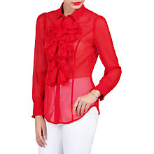 Buy Jolie Moi Chiffon Shirt, Red Online at johnlewis.com
