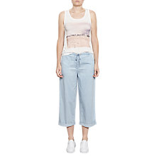 Buy French Connection Wide Leg Denim Trousers, Super Bleach Wash Online at johnlewis.com