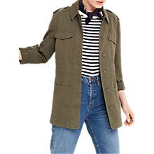 Buy Oasis Kate Utility Jacket, Khaki Online at johnlewis.com