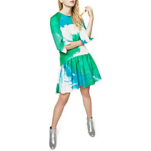 Buy Closet Printed Hem Dress, Multi Online at johnlewis.com