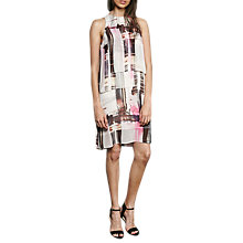 Buy French Connection Cornell Sheer Print Dress, Neon Nectar/Multi Online at johnlewis.com