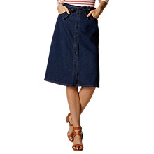Buy Karen Millen Dark Denim Skirt, Dark Blue Online at johnlewis.com